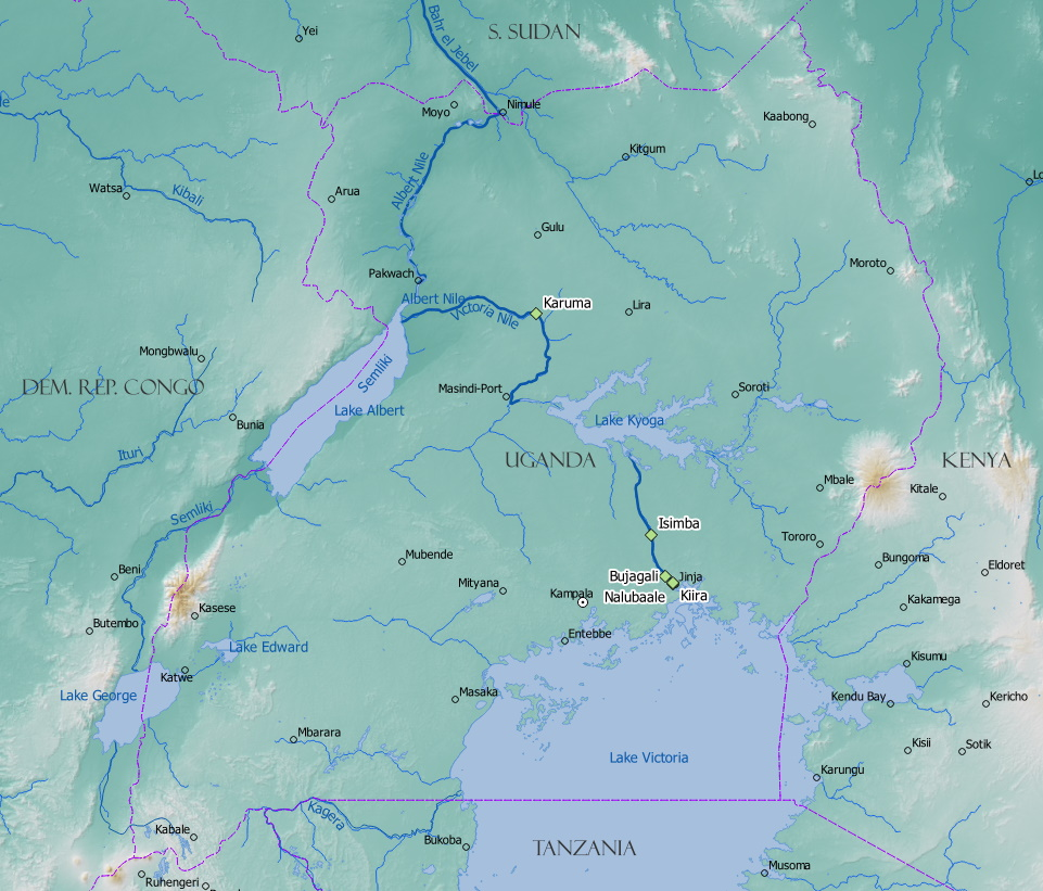 Hydropower sites visited during the field trip